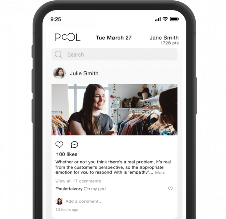 POOL zoom on the app - The social super app that drives up Engagement through Agency
